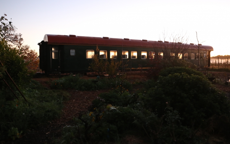 East carriage at dawn